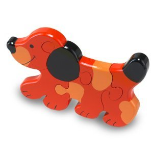 Wooden dog jigswaw puzzle